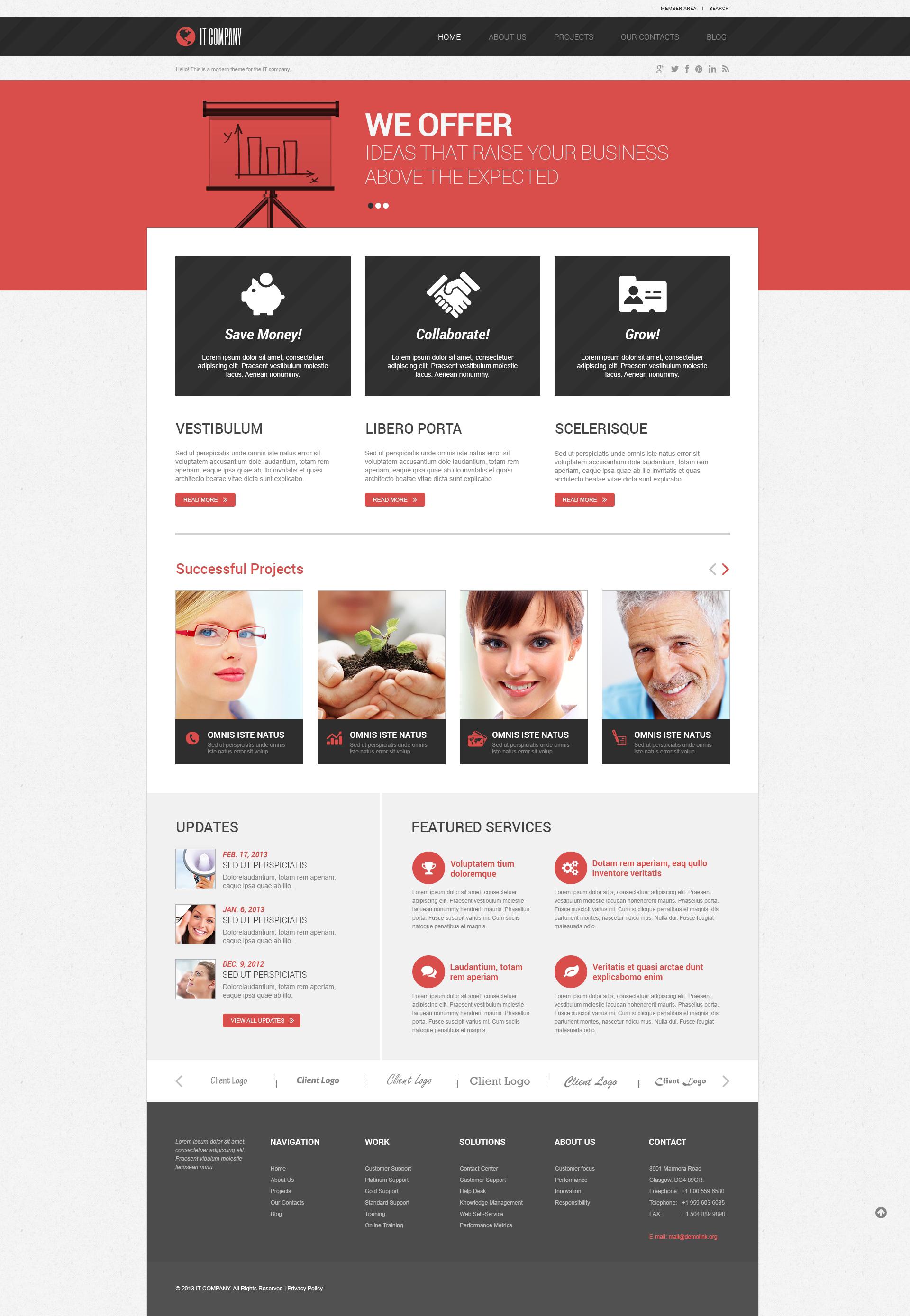 Symbolic IT WordPress Theme - screenshot