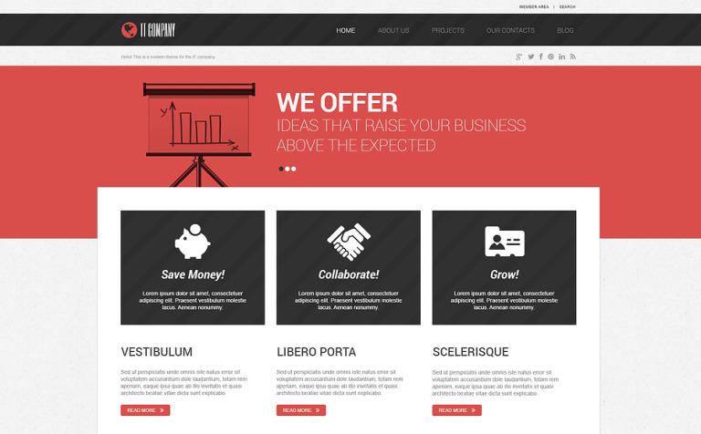 Tema de WordPress #46729 para Sitio de Tecnología de la información