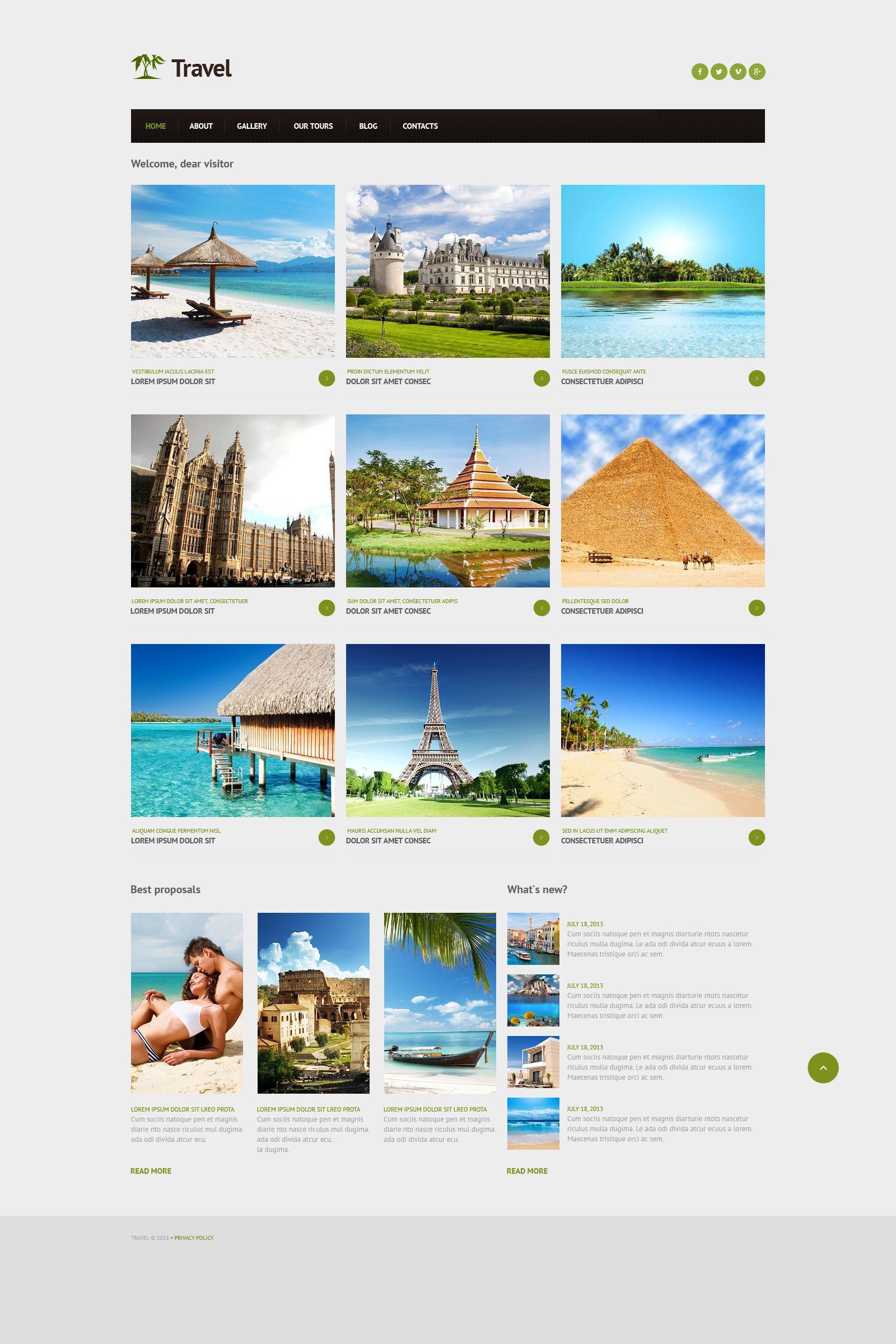 Travel Agency Responsive Joomla Template - screenshot