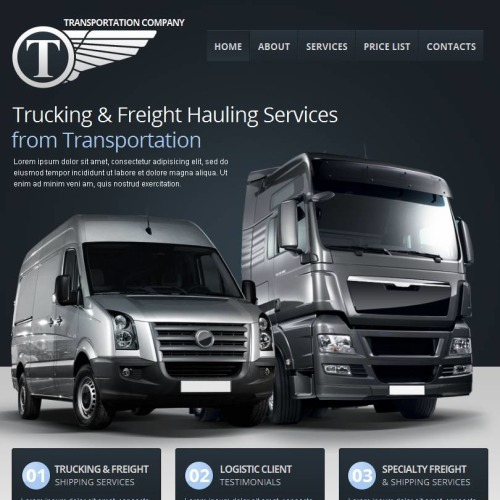 Transportation Company - Facebook HTML CMS Template