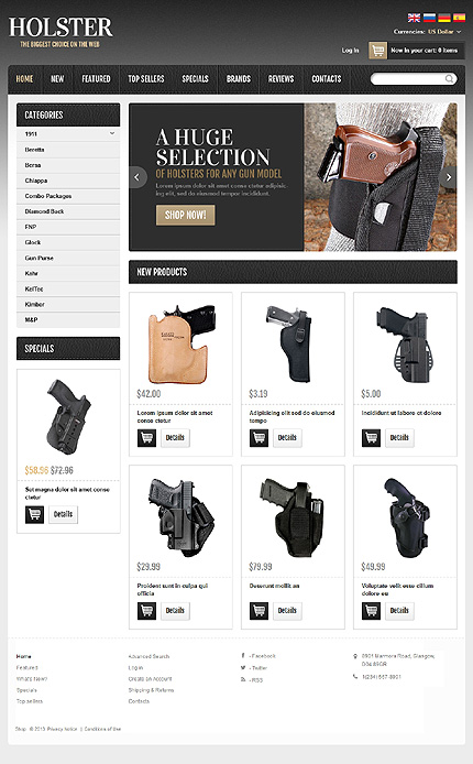 osCommerce Template 46812 Main Page Screenshot