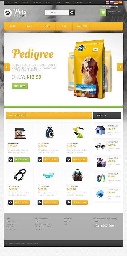osCommerce Template 46813 Main Page Screenshot