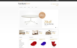 Minimalistic Furniture Store VirtueMart Template
