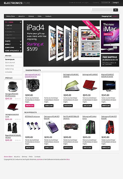 VirtueMart Main Page