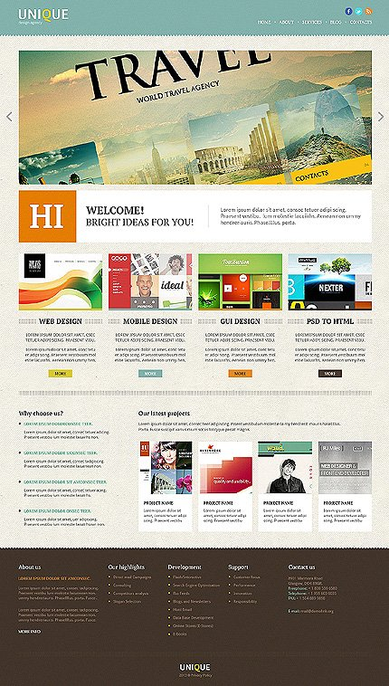Joomla Theme/Template 46833 Main Page Screenshot