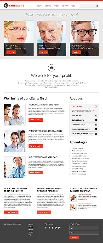 Joomla Theme/Template 46835 Main Page Screenshot