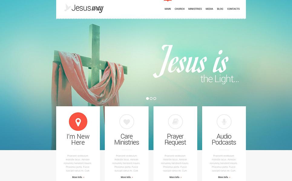Responzivní WordPress motiv na téma Křesťanství New Screenshots BIG