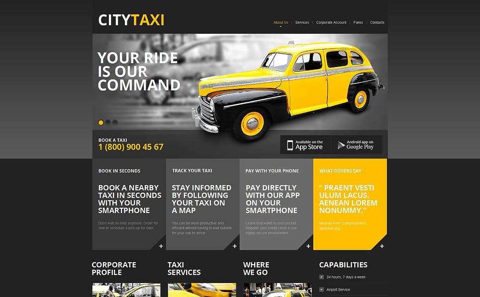 Szablon Moto CMS HTML #46856 na temat: taxi New Screenshots BIG