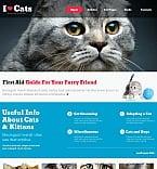 Animals & Pets Moto CMS HTML  Template 46857