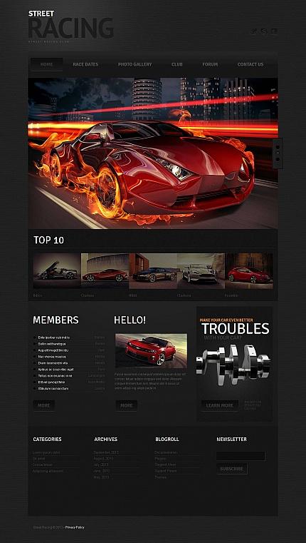 ADOBE Photoshop Template 46858 Home Page Screenshot