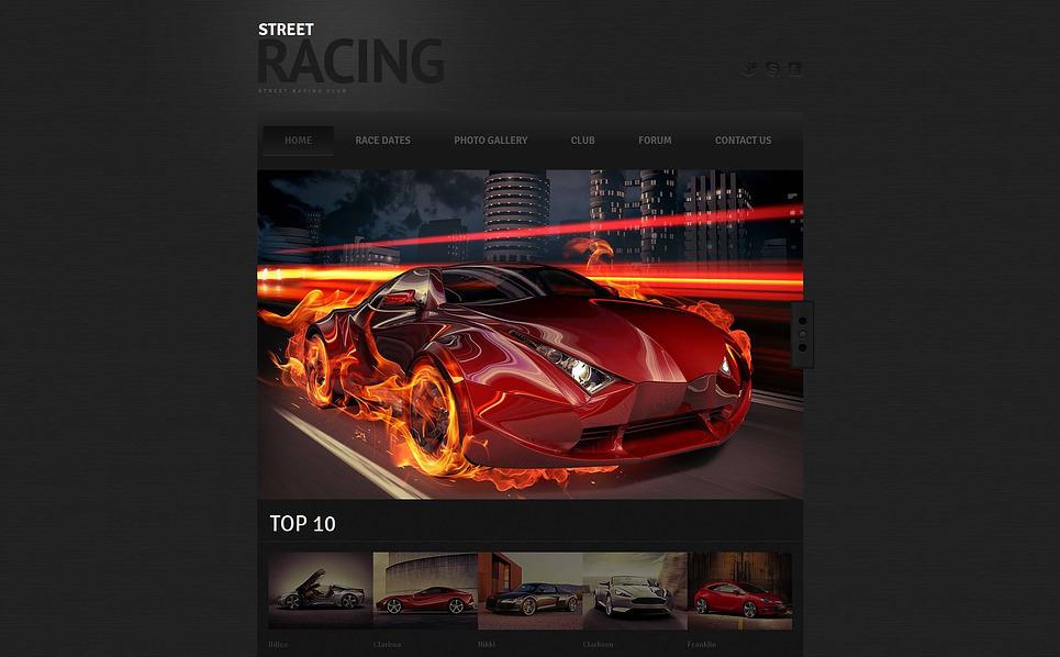 Szablon Moto CMS HTML #46858 na temat: samochód wyścigowy New Screenshots BIG