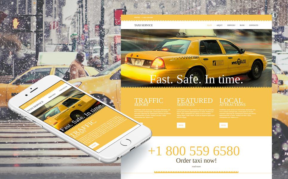 Template Moto CMS HTML  #46861 per Un Sito di Taxi New Screenshots BIG