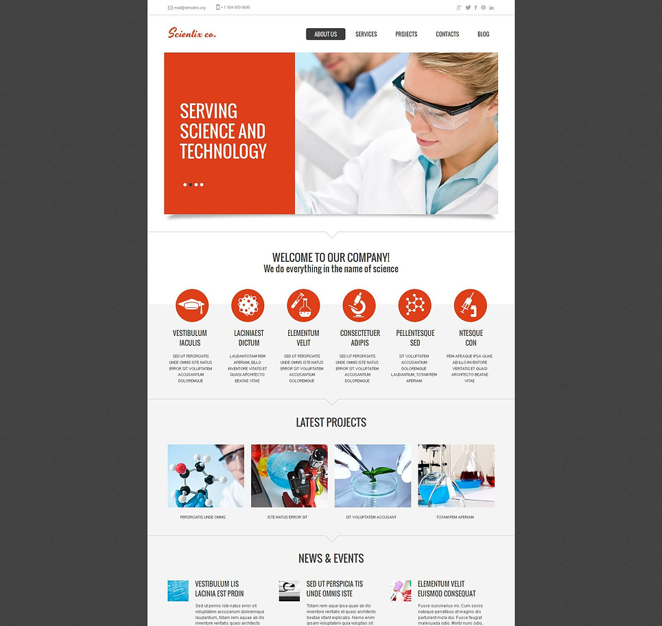 Content-Rich Website Template for Science Labs - image