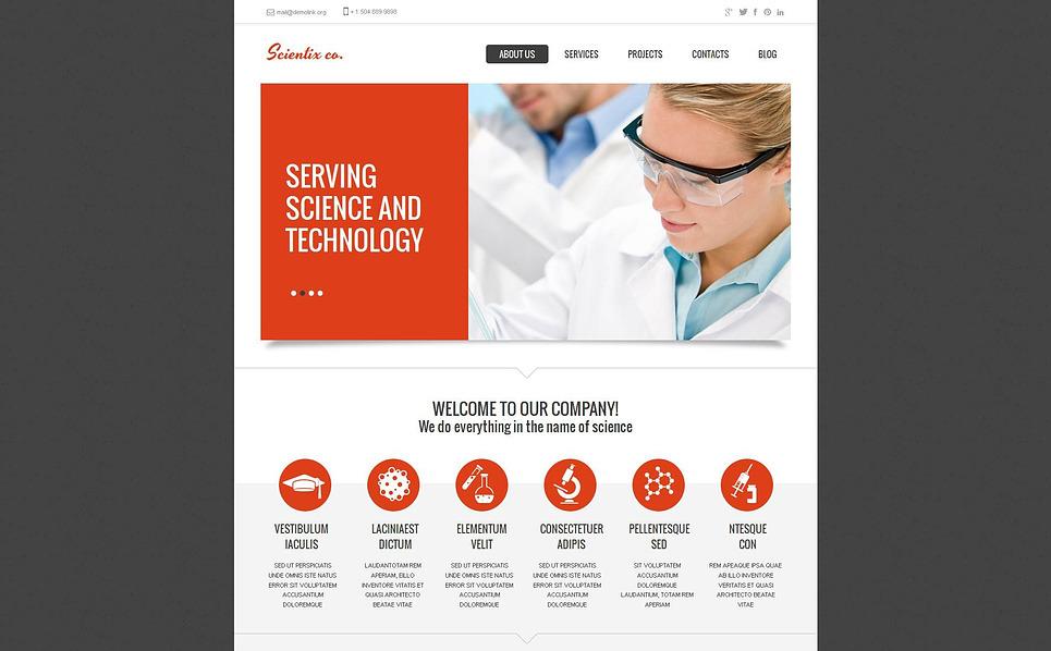 Template Moto CMS HTML para Sites de Laboratório Cientifico №46862 New Screenshots BIG