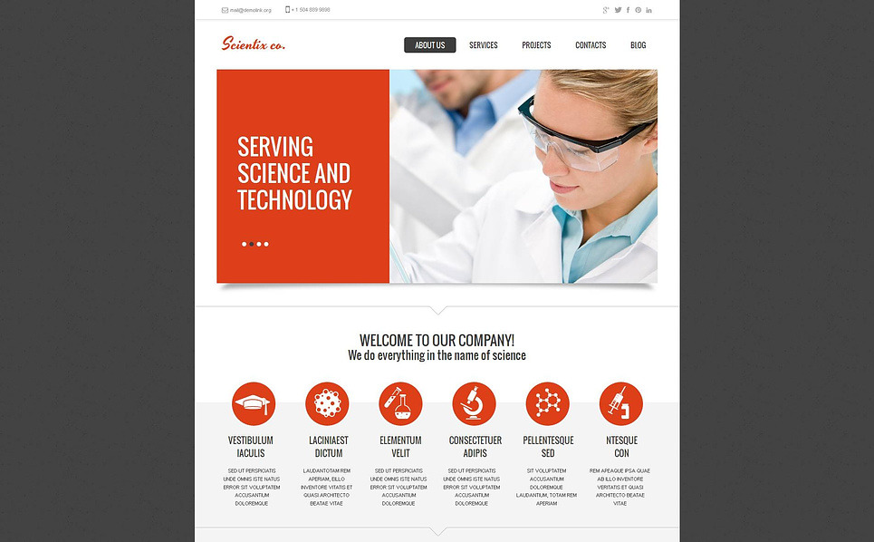Szablon Moto CMS HTML #46862 na temat: laboratorium naukowe New Screenshots BIG