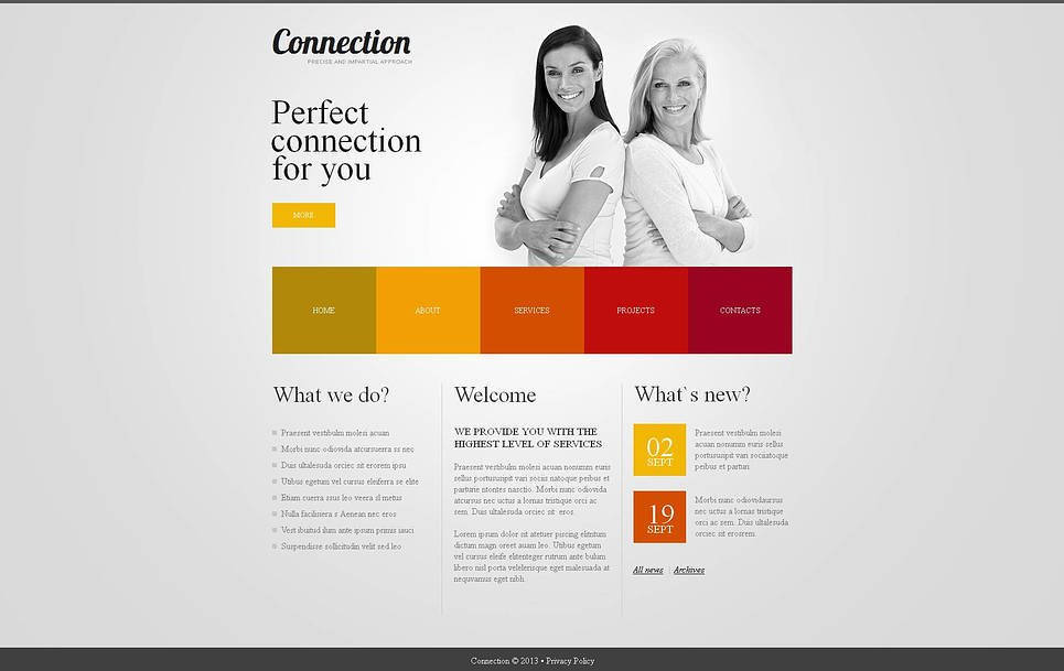 Neutral Business Template with Colored Menu Tabs - image