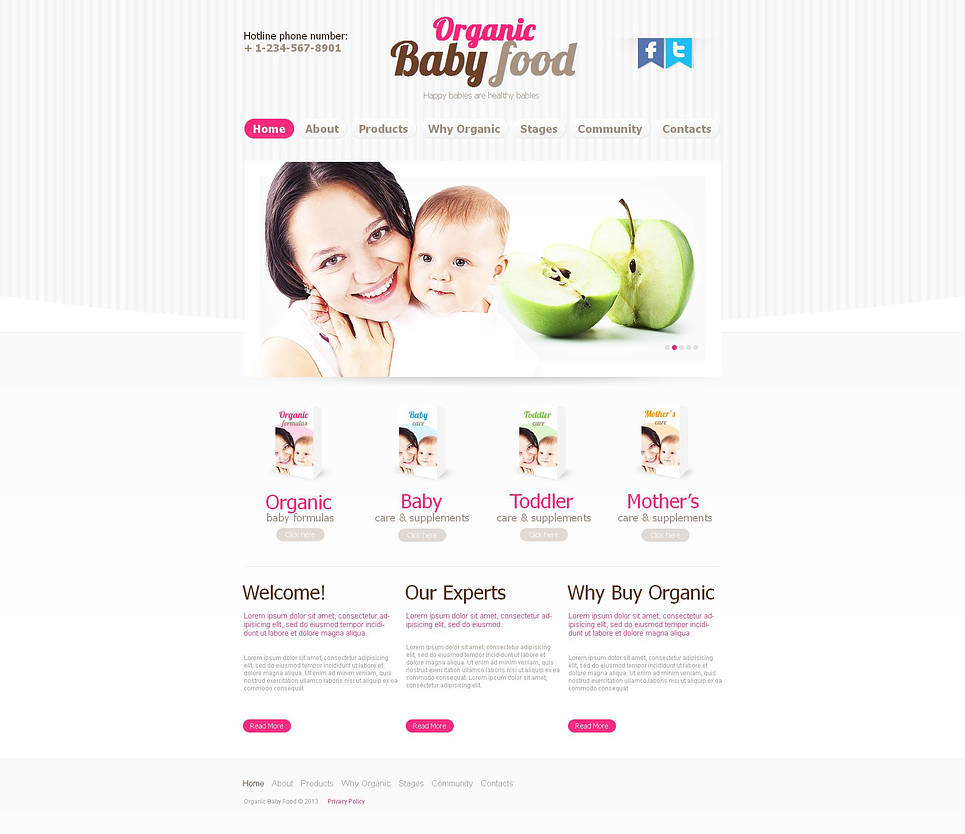 Baby Food Website Template with jQuery Slider - image
