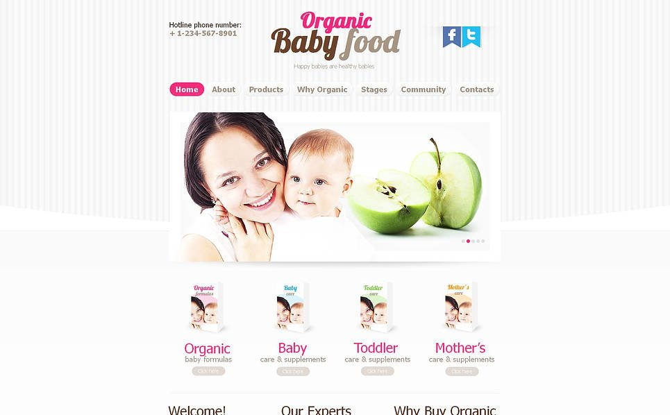Premium Moto CMS HTML Template over Kinderdagverblijf  New Screenshots BIG