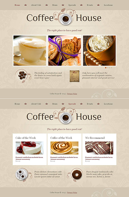 ADOBE Photoshop Template 46867 Home Page Screenshot