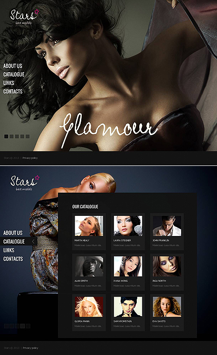 ADOBE Photoshop Template 46874 Home Page Screenshot