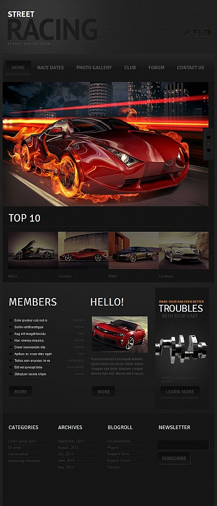 ADOBE Photoshop Template 46876 Home Page Screenshot