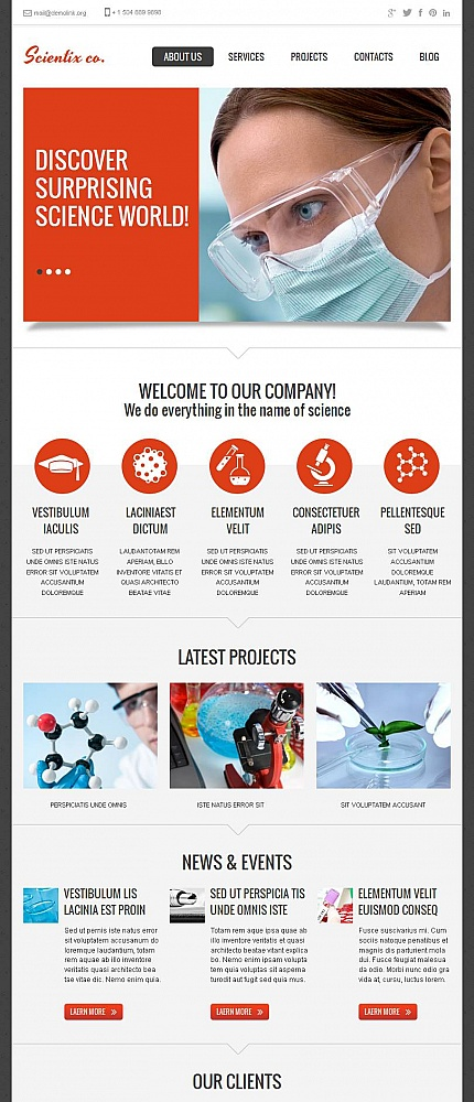 ADOBE Photoshop Template 46877 Home Page Screenshot