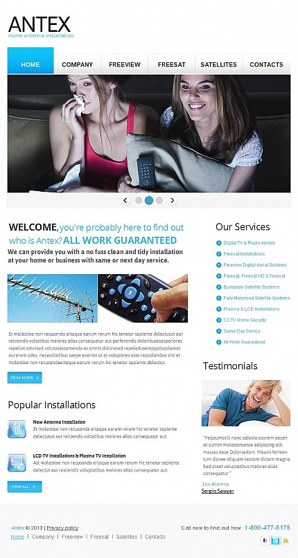 ADOBE Photoshop Template 46885 Home Page Screenshot