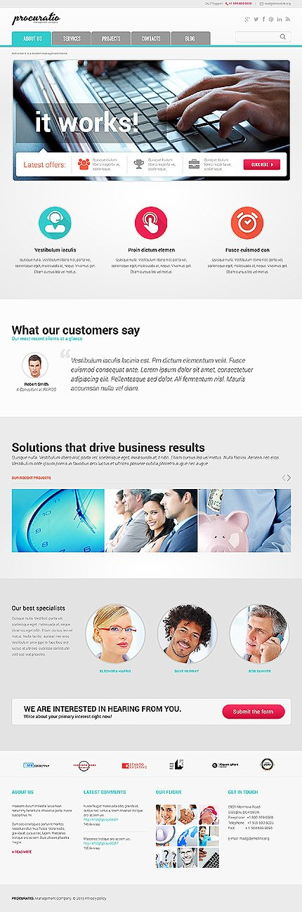 Joomla Theme/Template 46897 Main Page Screenshot