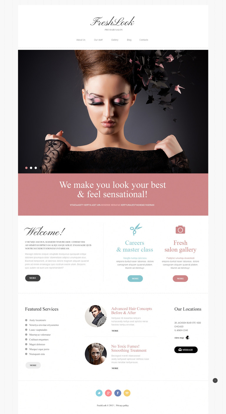 Beauty Salon Joomla Template New Screenshots BIG