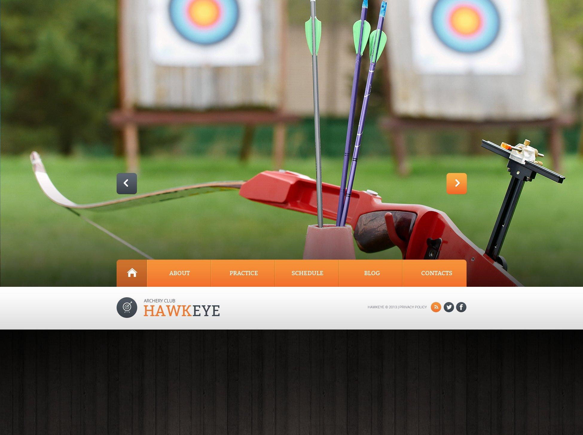 Bootstrap Шаблон сайту на тему стрільба з лука №46822