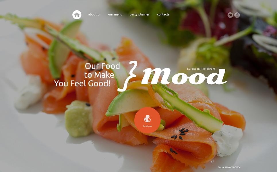 Bootstrap Website template over Europees Restaurant New Screenshots BIG