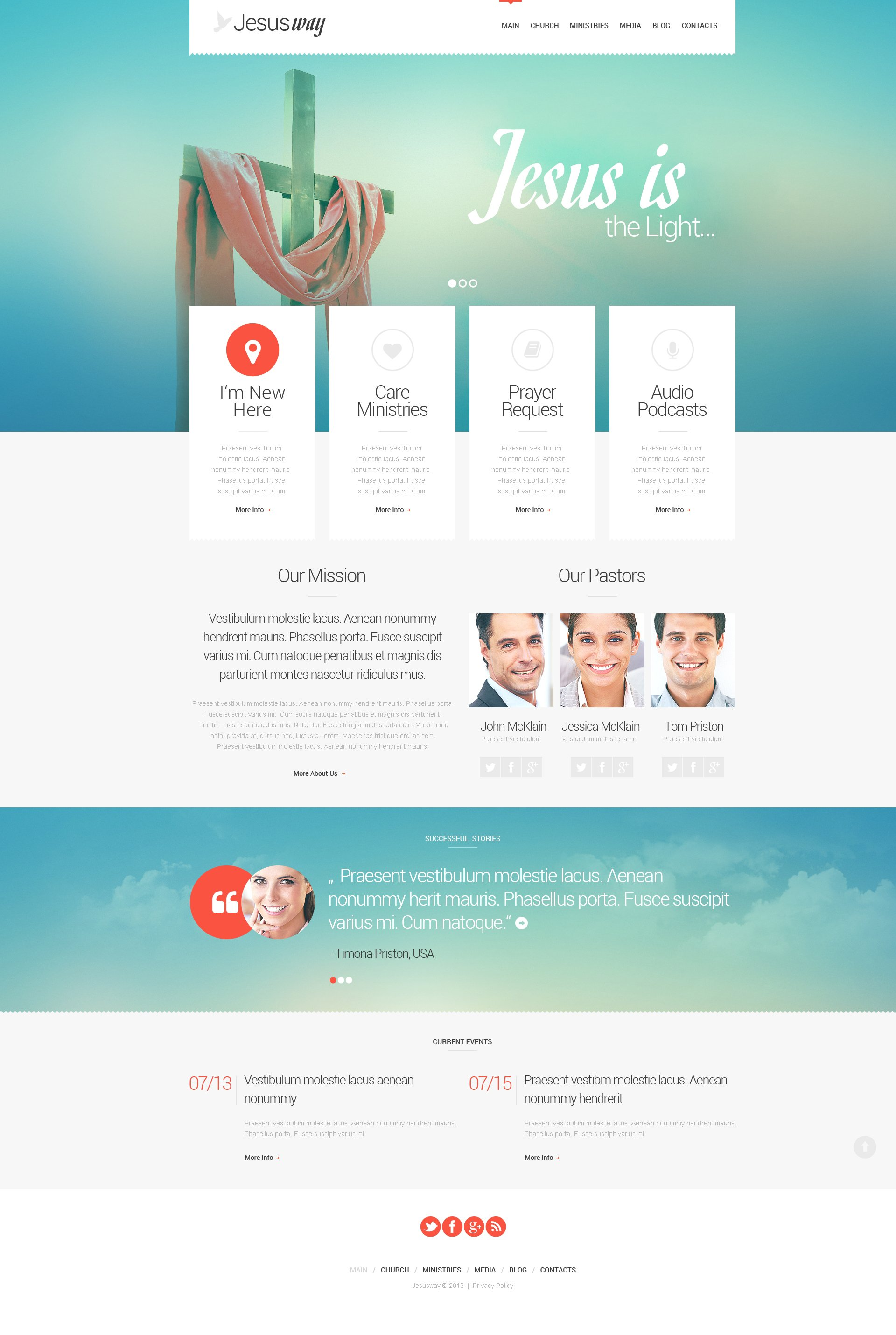 Christian Responsive WordPress Theme - screenshot