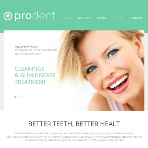 Prodent - Facebook HTML CMS Template