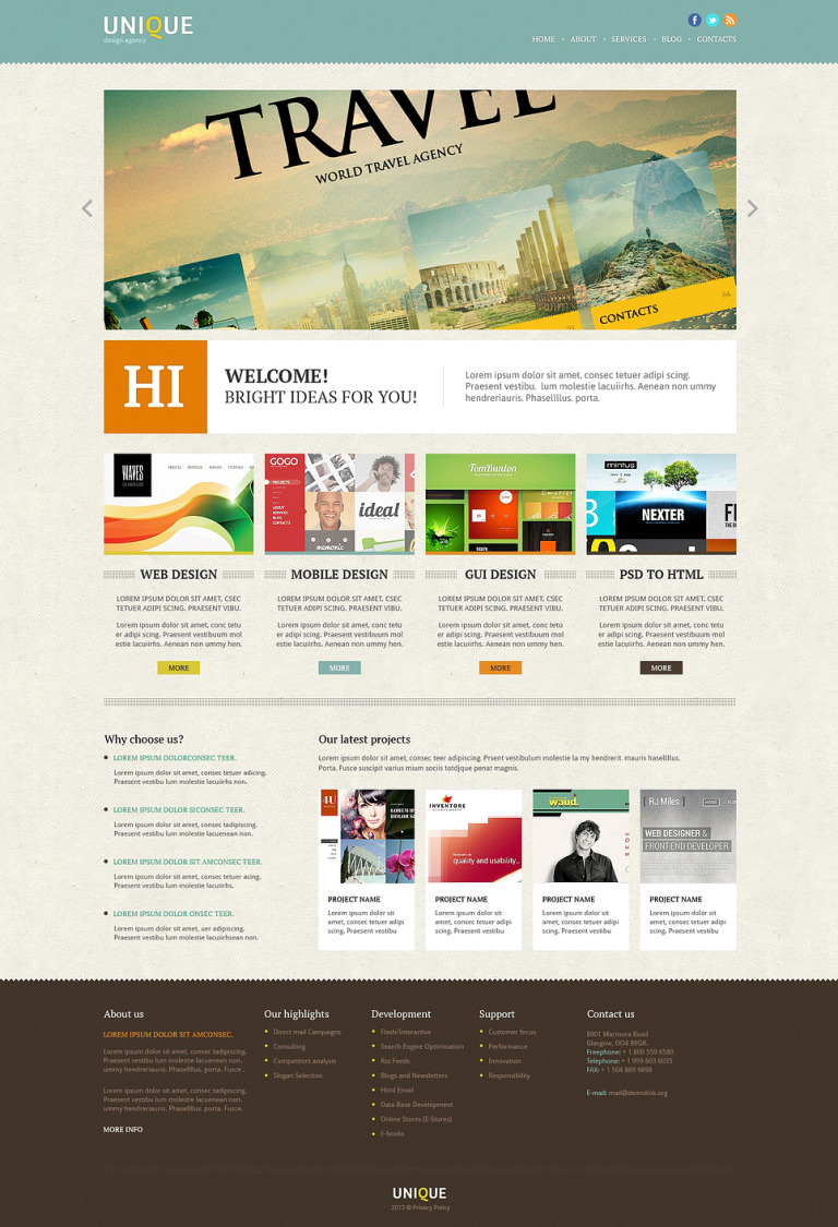 Design Department Joomla Template New Screenshots BIG