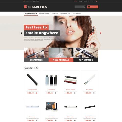 E-Cigarettes - Responsive PrestaShop E Cigarette  Template