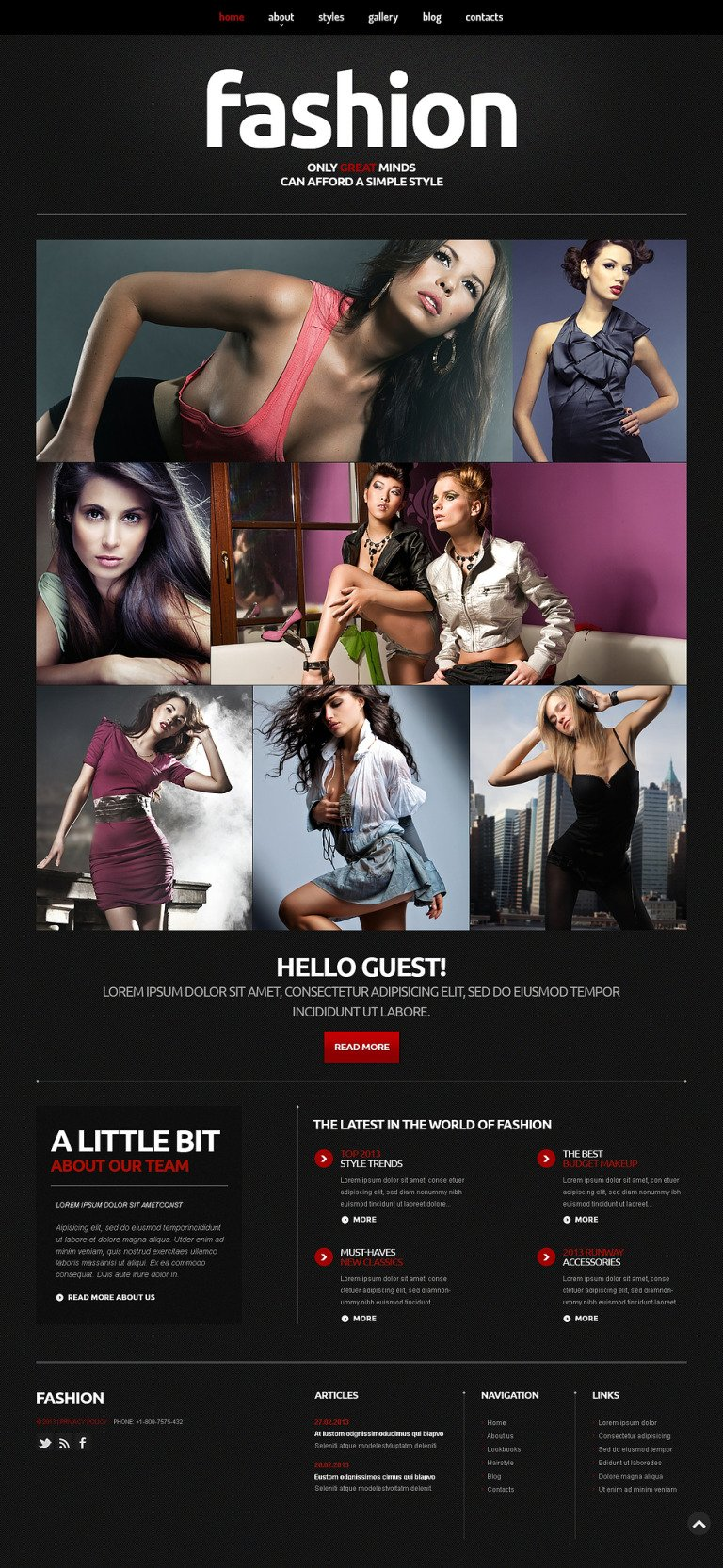 Fashion Blog Responsive Joomla Template New Screenshots BIG