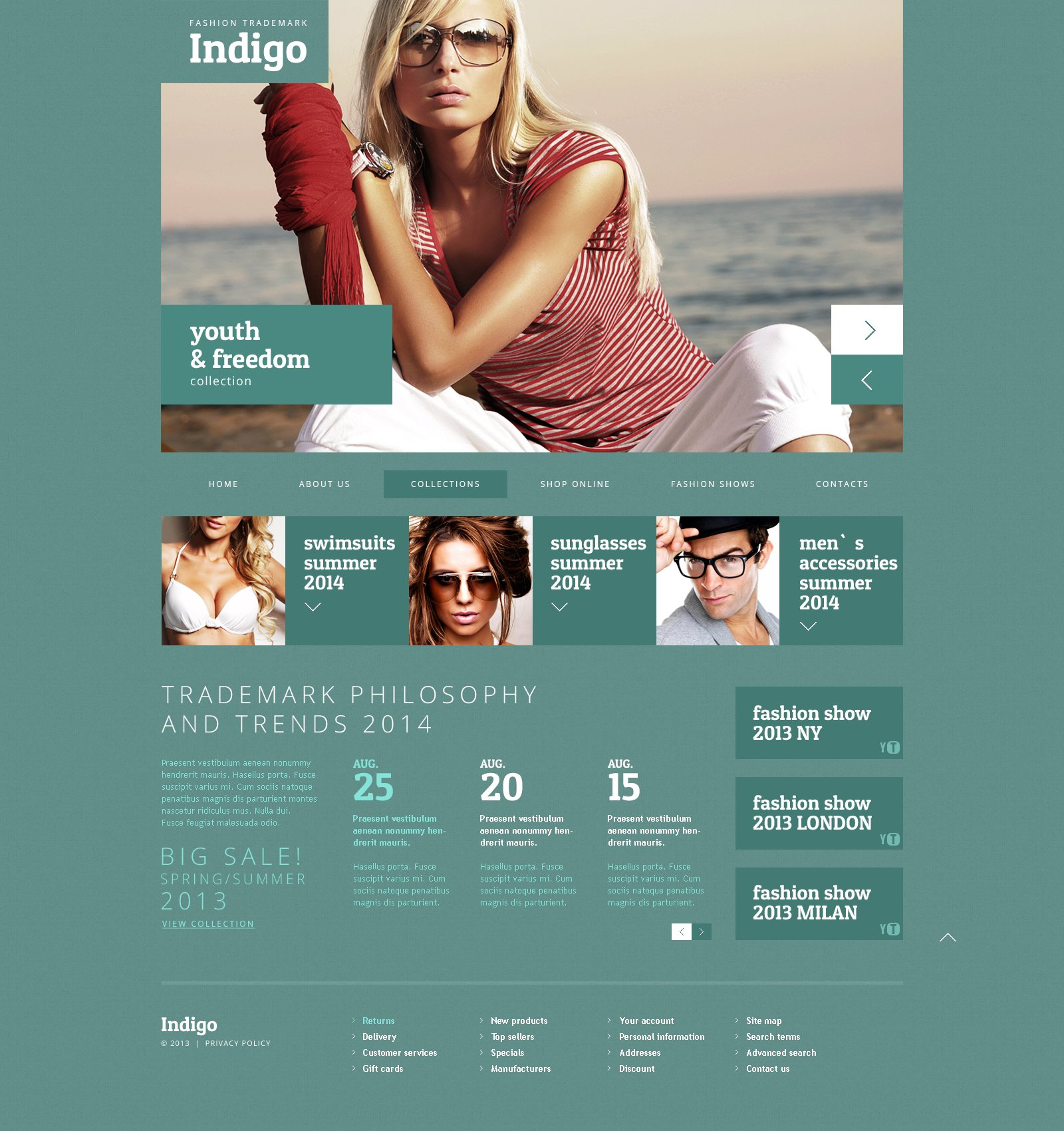 Fashionable Blog Design Joomla Template - screenshot