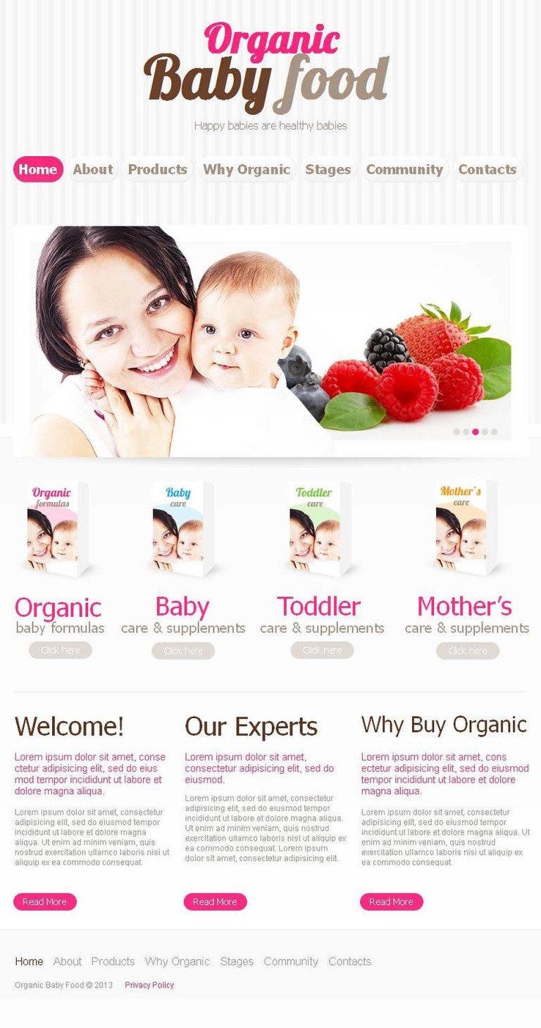 Food Store Facebook HTML CMS Template New Screenshots BIG