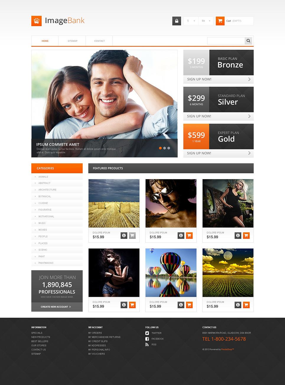 ImageBank PrestaShop Theme New Screenshots BIG