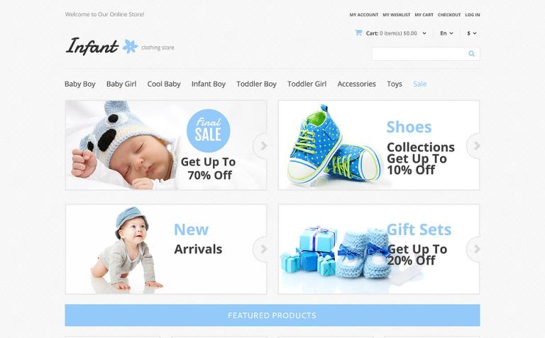 Infant Clothing Magento Theme