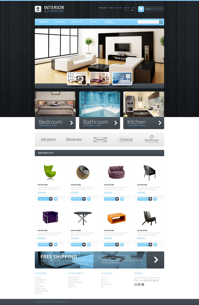 Interior & Furniture Magento Theme New Screenshots BIG