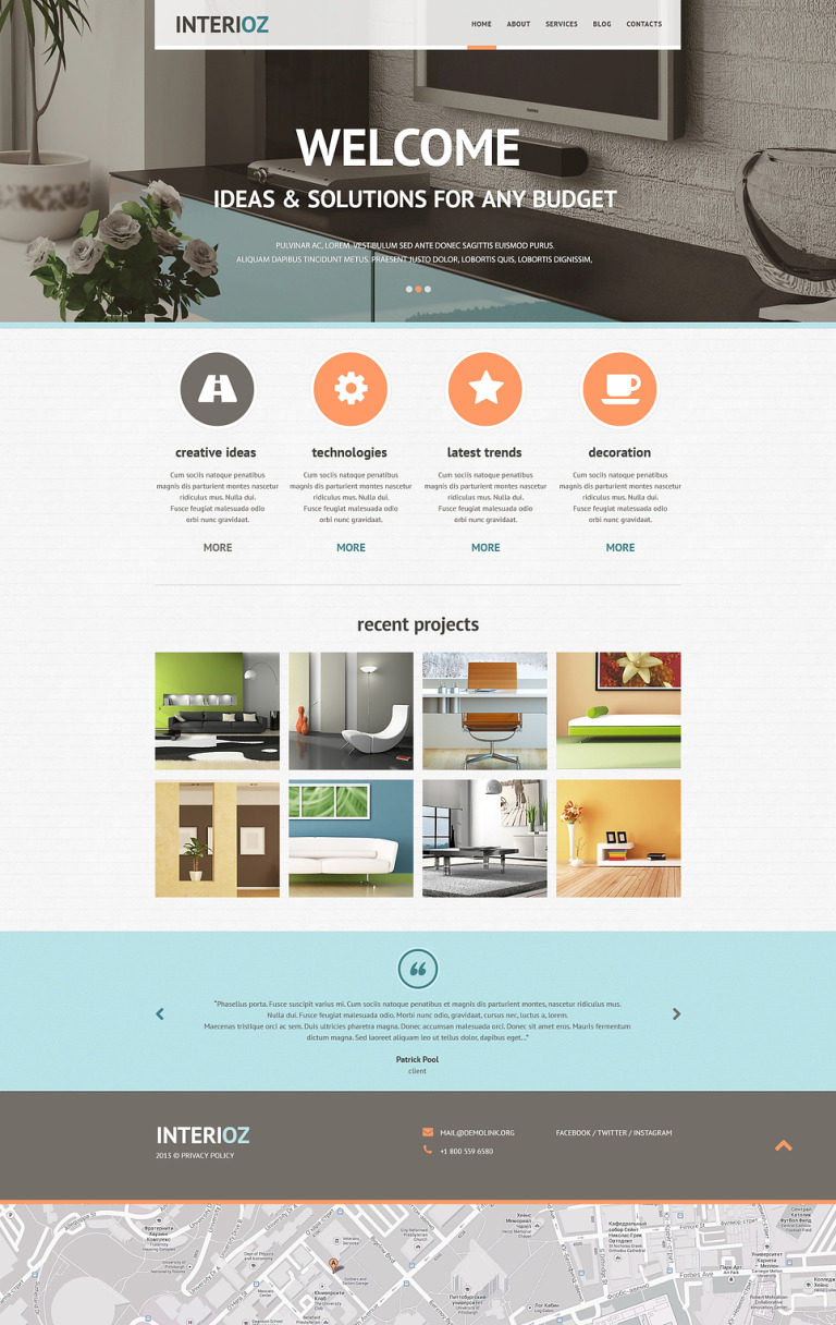 Interior Design Agency Joomla Template New Screenshots BIG