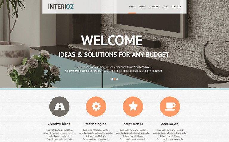 Interior Design Agency Joomla Template
