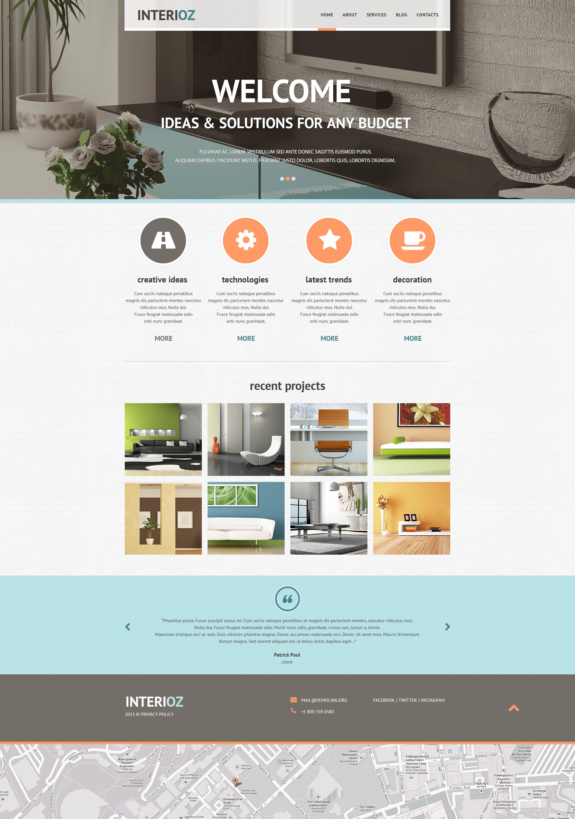 Interior Design Agency Joomla Template 46815
