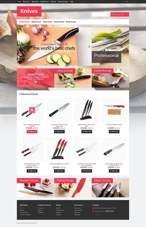 Knives that Cut OpenCart Template New Screenshots BIG