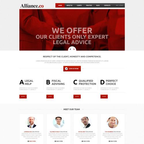 Alliance. Co - Joomla! Template based on Bootstrap