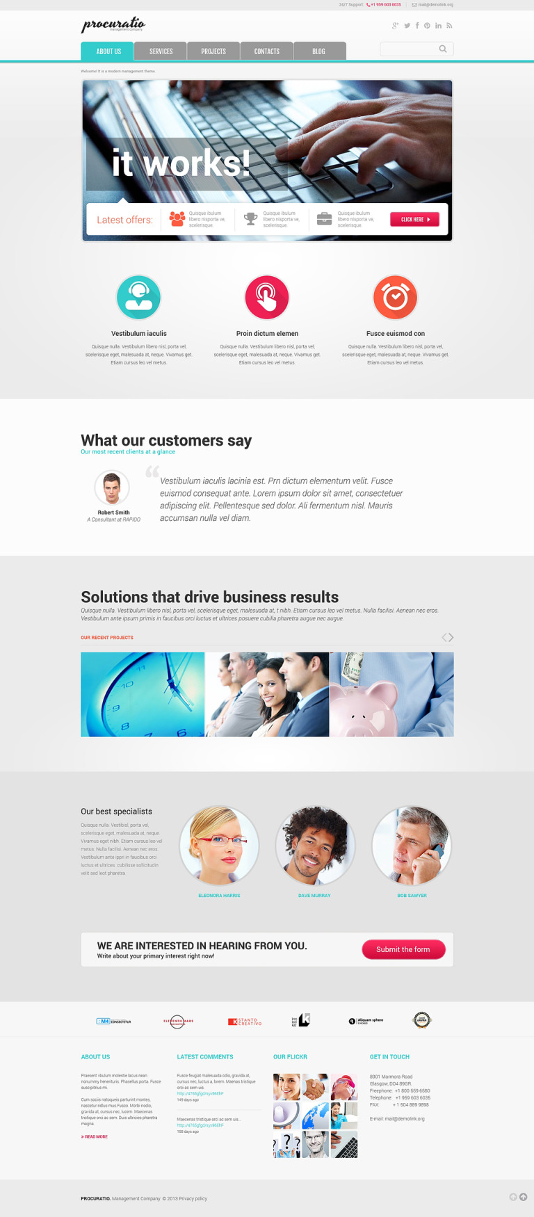 Management Agency Joomla Template New Screenshots BIG