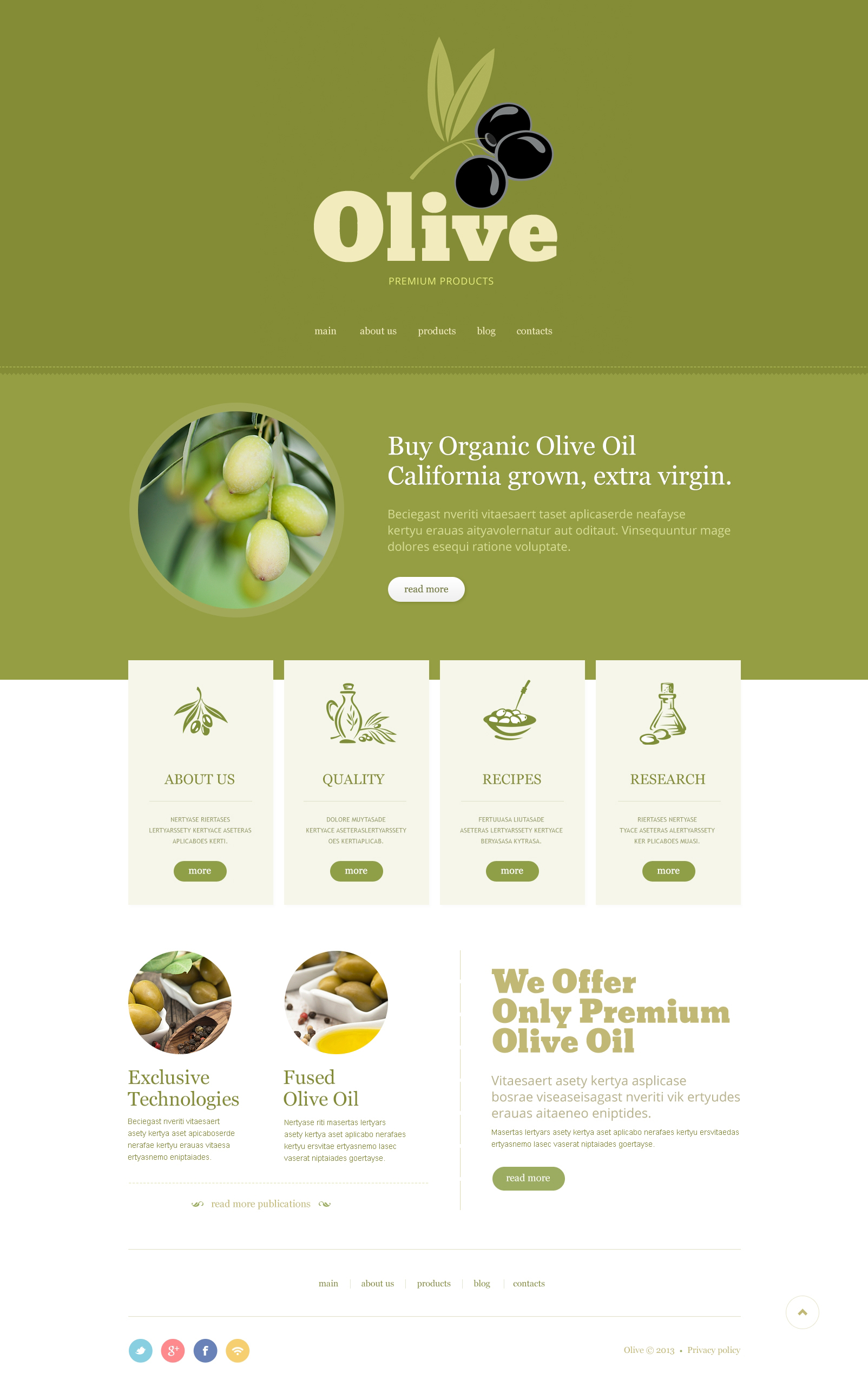 Minimalist Olive Store Joomla Template - screenshot