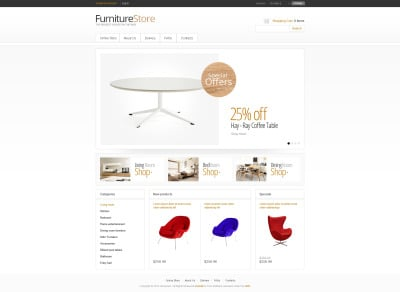Furniture VirtueMart Şablonu
