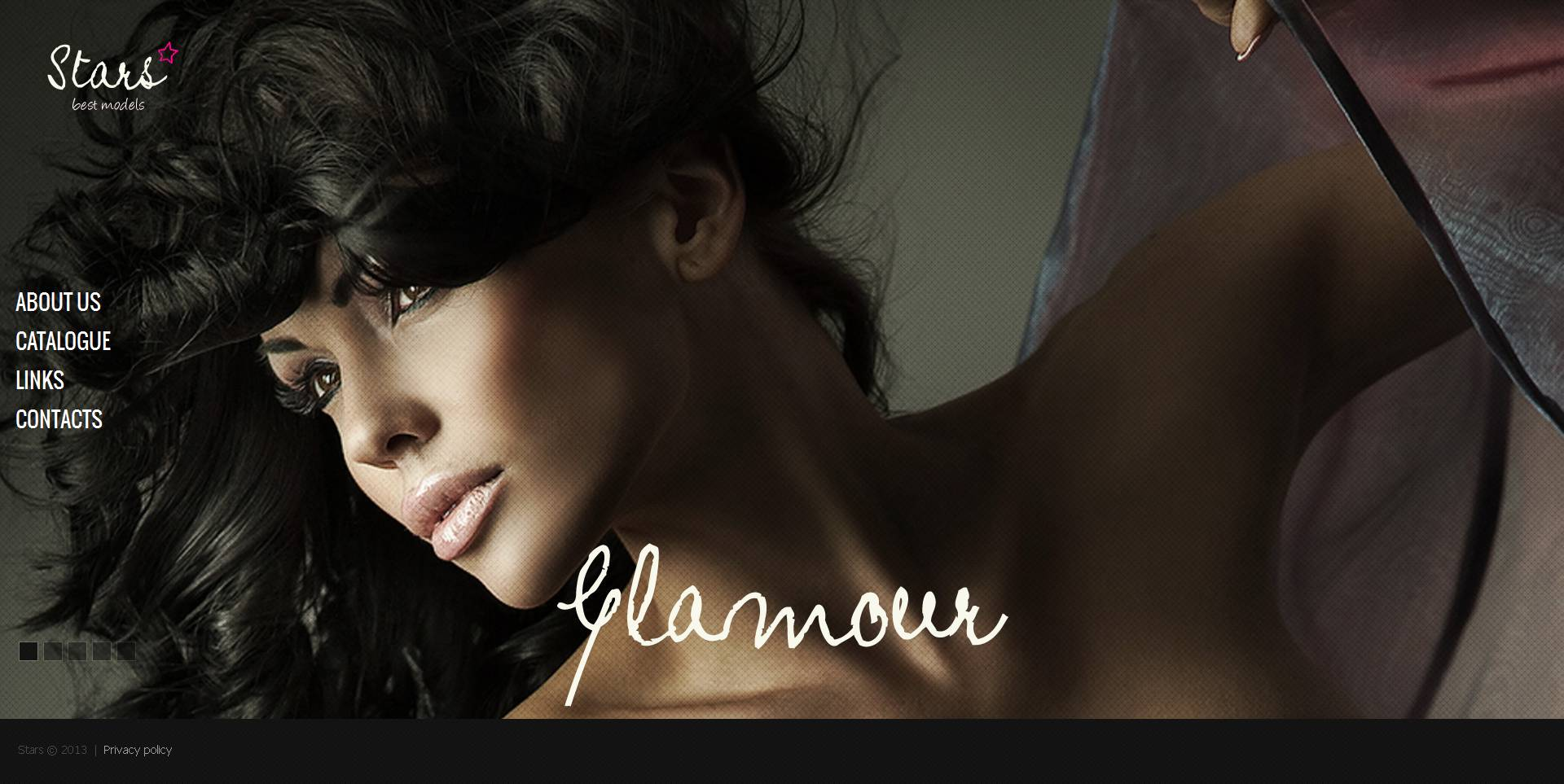 Modèle Moto CMS HTML Premium pour agence de mannequins #46874